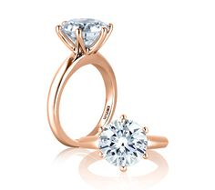 Love this setting, except I would want it in platinum or white gold. Classic 6 Prong Solitaire Engagement Ring