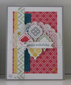 Greeting Card Mother's Day Hand Stamped Mosaics by Rubberredneck, $5.95