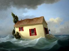 surrealism art by Charnine Dark Drawings, Deep Blue Sea, Modern Artists, Contemporary Artwork, Fantasy, Art Festival, Surreal Art, Female Art, Art Images