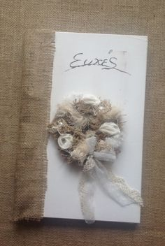 Βιβλία Ευχών : Βιβλία Ευχών 3 Burlap Wreath, Wreaths, Home Decor, Decoration Home, Room Decor, Bouquet, Interior Decorating, Floral Arrangements