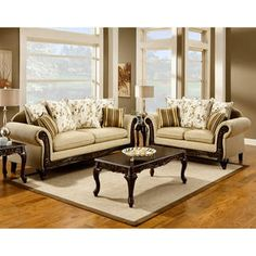 Shop for Furniture of America Artizani 2-piece Sofa and Loveseat Set. Get free shipping at Overstock.com - Your Online Furniture Outlet Store! Get 5% in rewards with Club O! - 14790385