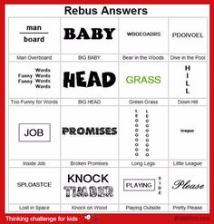Brain teaser - Kids Riddles Logic Puzzle - rebus for kids challenge - Challenge for kids. Look at this rebus and find answers. They are really cool! Just give it a try. Rebus Puzzles, Logic Puzzles, Word Puzzles, Puzzles For Kids, Riddle Puzzles, Tangram Puzzles, Picture Puzzles, Brain Teasers With Answers, Brain Teasers For Kids