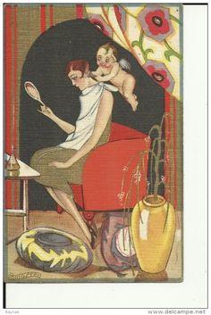 TH1183 -- CARLO CHIOSTRI pinx. -- ART DECO -- EDIT.: BALLERINI & FRATINI -- No. 81