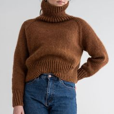 Wonderful warm and soft sweater. Knitting pattern free in kit. Pattern and yarn in a kit. Jumpers For Women, Sweaters For Women, Jumper Knitting Pattern, Knitting Sweaters, Easy Knitting, Thick Sweaters, Mohair Sweater, Sweater Fashion, Cool Outfits