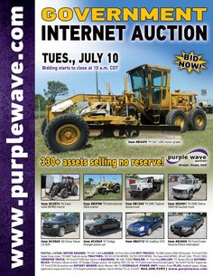 Government Auction  July 10, 2012  http://purplewave.co/120710