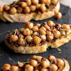 Chickpeas are full of protein and fiber, which delay your body's digestion of nutrients. When digestion slows down, it takes longer for blood-sugar-spiking carbohydrates to get into your bloodstream, and that keeps hunger at bay. Don't fancy chickpeas? You'll get the same benefit from any bean you do like.