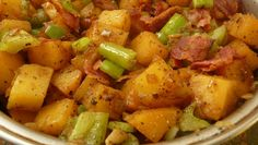Rutabaga Hash With Onions and Crisp Bacon #recipe