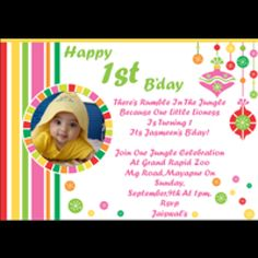 Indian Baby First Birthday Invitation Cards Card Maker Create