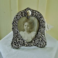 Victorian Frame Sterling Silver Hallmarked by SilverFoxAntiques, $750.00
