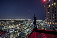 Photographer, Tom Ryaboi - Thrill-seeking photographer Tom Ryaboi continues to scale the tall skyscrapers of Toronto and snap one-of-a-kind shots. He's heart-pounding, vertigo-inducing talent is more than thrilling. it's deadly. Stunning Photography, Taking Pictures, Climbing, Louvre, Adventure, City, Building, Travel, Photographs