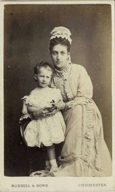 Alexandra with little Maud ( later Queen of Norway)