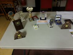 A selection of trophies obtained by Springfield Youth, shortly before they become a welcome addition to Hendon Youth.