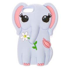 Precious Elephant Silicone Phone Case | An elephant never forgets, like you won't forget this doe-eyed elephant. The 3D soft touch silicone elephant helps protects your phone from falls and dings in precious style.