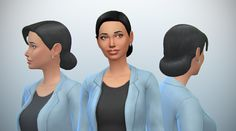 delcowebney:  Simple low bun hairstyle (something sorely missing in the game). From teen to elder. Mesh/texture sculpted/painted from scratch. Comes  in all CAS colors. Custom specular (yay!). All LODs. Supports hats.Not disabled for random as my S4PE refuses to open casp file spite redownloads/ resource file updates. Sorry.TOU - Recolors allowed w/o mesh. Retextures are welcome. Download