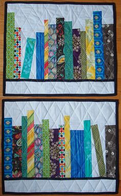 bookshelf quilts by KittyKittyCrafts