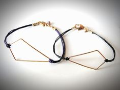 NEW- Gold Kite on Linen bracelet. $24.00, via Etsy.