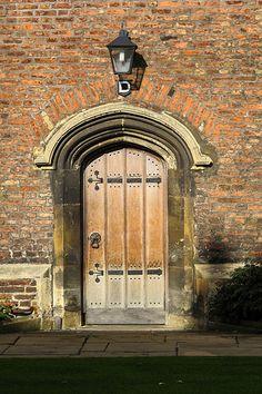 Door at Queen's College, Cambridge, England - photo by Amanda McIntyre (amac12392), via Flickr