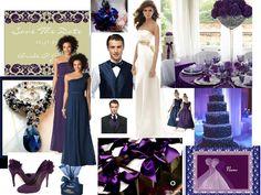 Royal Midnight Affair : PANTONE WEDDING Styleboard : The Dessy Group