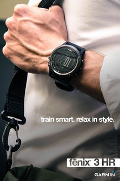True performance meets true style with the fēnix 3 HR. This rugged, capable and smart multisport training GPS watch features a wrist-based heart rate. Whether you're training for your next race or wear a watch simply for style, the PVD-stainless steel bezel and buttons and silicone band keep you stylish no matter what activity you prefer.  Let the journey begin with the fēnix 3 HR smart watch.