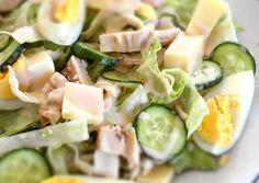 """κύρια φωτογραφία συνταγής Σαλάτα του Σεφ """"πειραγμένη"""" Feta, Cantaloupe, Potato Salad, Cucumber, Potatoes, Cheese, Fruit, Vegetables, Ethnic Recipes"""