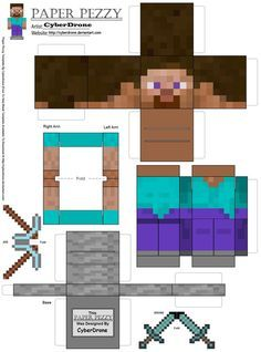 Papel Pezzy- Steve 'Minecraft' por CyberDrone