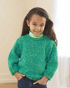 My favorite source for arts and crafts: Free Child's Easy Pullover Knit Pattern Easy Sweater Knitting Patterns, Jumper Patterns, Knit Patterns, Toddler Knitting Patterns Free, Knitting Sweaters, Knitting For Kids, Easy Knitting, Knitting Ideas, Knitting Needles