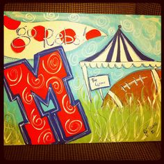 ole+miss+paintings | few weeks ago, I went and painted our beloved Colonel Reb. Col. Reb ...