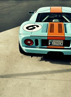 Ford GT in Gulf racing livery. Maserati, Bugatti, Ferrari, Ford Gt40, Luxury Sports Cars, Sexy Cars, Hot Cars, Supercars, Jaguar