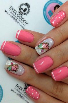 Want some ideas for wedding nail polish designs? This article is a collection of our favorite nail polish designs for your special day. Diy Nail Designs, Short Nail Designs, Nail Polish Designs, Bright Pink Nails, Bright Summer Nails, Gel Nails At Home, Diy Nails, Wedding Nail Polish, Work Nails