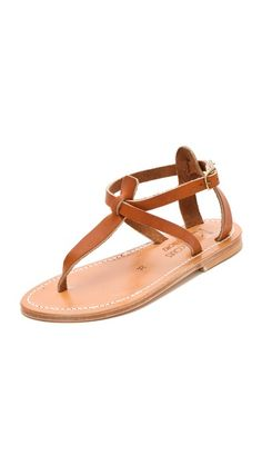K. Jacques Buffon T-Strap Sandals  sz 38