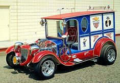 Mail Truck by George Barris. You can see this car and much more at… Hot Rod Trucks, Cool Trucks, Cool Cars, Hot Rods, Classic Hot Rod, Classic Cars, Pt Cruiser, Weird Cars, Batmobile