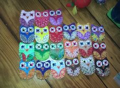 Silly Hoots Eco Felt Owl Magnets Owl Decor FUN by HappyFelties, $6.00 - but you could make these yourself