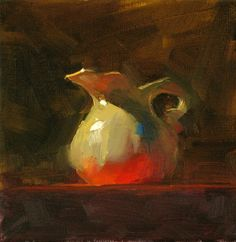 "qiang-huang, a daily painter: ""Red Table Cloth"" --- Sold"
