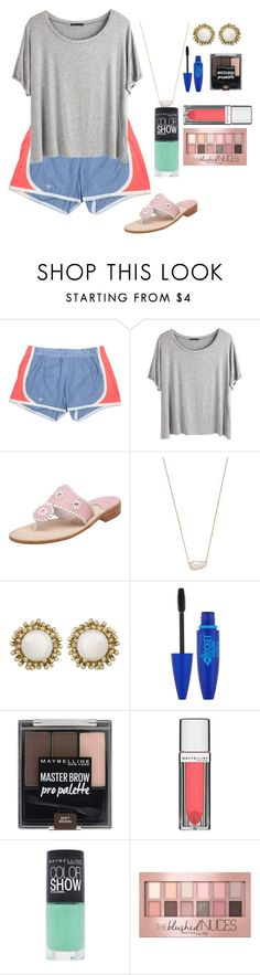 """birthday!!!!!!!!"" by marthaswilliams ❤ liked on Polyvore featuring Chicnova Fashion, Jack Rogers, Kendra Scott, Maybelline and springbreakformaggie"