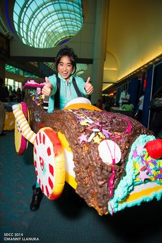 Vanellope von Schweetz from Wreck-it-Ralph at #SDCC.  Probably my favorite costume that I saw but didn't get a photo of myself.