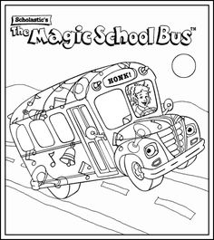 magic school bus coloring pages - Google Search