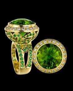 Peridot Ring by Paula Crevoshay