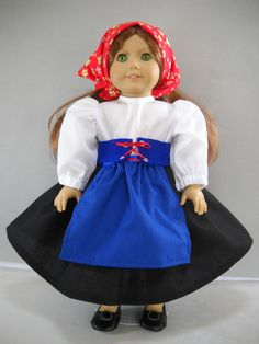 "Fits 18"" American Girl doll Italy Italian folk dress clothes X COSTUME ONLY"