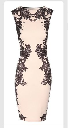 House of Fraser - Jane Norman Lace print embellished bodycon dress, Nude Mode Chic, Lace Print, Embellished Dress, Pencil Dress, Dress Me Up, Pretty Dresses, Dress To Impress, Beautiful Outfits, Lace Dress