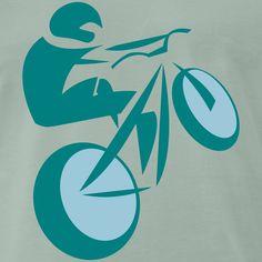 Bike Rider goes Up-Hill - extrem mountain biking Bike Rider, Mountain Biking, Logos, Shirts, Up, Logo, A Logo, Shirt, Top