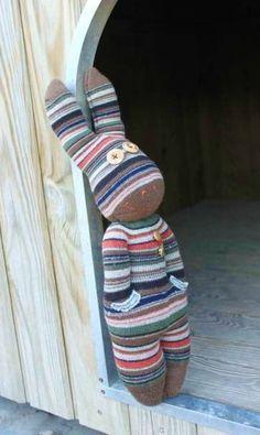 Sock bunny (my pattern)