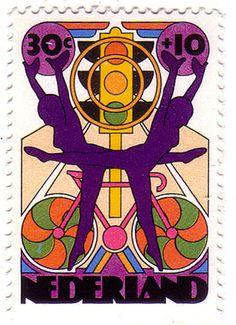 a very pretty dutch stamp, 1974