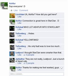 Warriors Facebook: Why is Ashfur in StarClan?   Warrior Cats