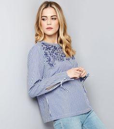 blue-stripe-tie-sleeve-embroidered-top-.jpg (720×817)