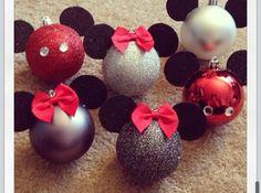 Home made Disney ornaments.