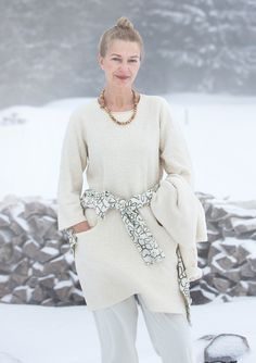 """Snöbär"" tunic in eco-cotton – White winter – GUDRUN SJÖDÉN – Webshop, mail order and boutiques 
