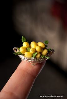 Tiny Ter Miniatures Bowl of lemons - beautiful