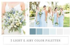 Color palettes can so fun! So, here are a few tips and inspiration boards for picking light & airy color palettes for your wedding! Ice Blue Color, Green Colour Palette, Blue Color Schemes, Wedding Color Schemes, Color Palettes, Wedding Looks, Wedding Tips, Wedding Ceremony, Ice Blue Weddings