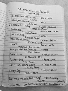 Basically, tons of imagine dragons songs (Warriors by Imagine Dragons for all characters) Ya Books, Good Books, Lunar Chronicles Quotes, Marissa Meyer Books, Book Memes, Cinder, Book Fandoms, Book Nerd, Book Worms