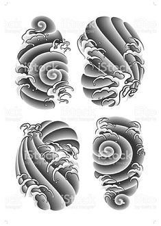 Japanese Wave Tattoos, Japanese Dragon Tattoos, Japanese Tattoo Designs, Japanese Sleeve Tattoos, Japan Tattoo Design, Japanese Cloud Tattoo, Foo Dog Tattoo Design, Irezumi Tattoos, Tatuajes Irezumi
